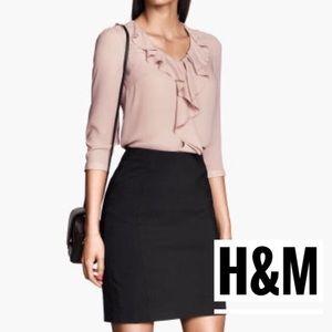 NWT H&M Black Pencil Skirt 6